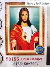 Tranh đính đá cao cấp chúa Jesus Y8155- KT:50X70CM- Quốc Thịnh