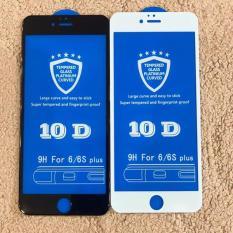 Kính cường lực 10D cho iphone (Tặng nút home) 6, 6s,6splus, 7, 7Plus, 8, 8Plus, X MÀU ĐEN TRẮNG