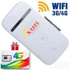 Phát sóng wifi bằng sim 3G/4G ZTE SUN hàng nhập khẩu NHẬT BẢN – Tốc độ xuyên tường – Tặng sim 4g Viettel data khủng