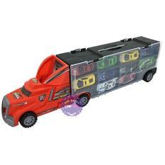 Hộp đồ chơi xe container chở xe ô tô con bằng sắt 10 chiếc – ĐỒ CHƠI CHỢ LỚN