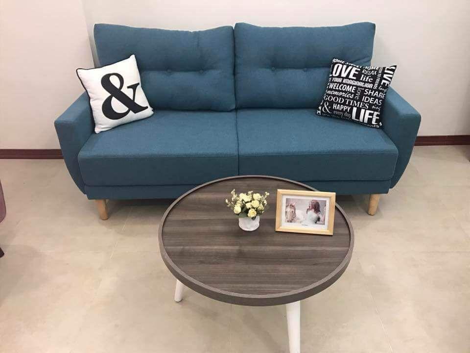 Sofa băng juno sofa 2018 (xanh)+ 2 gối trang trí