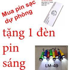 Pin sạc dự phòng G01 Litinum 20000MAH (Trắng) -hổ trợ sạc nhanh + tặng 1 đèn pin siêu sáng mini lm49 lms