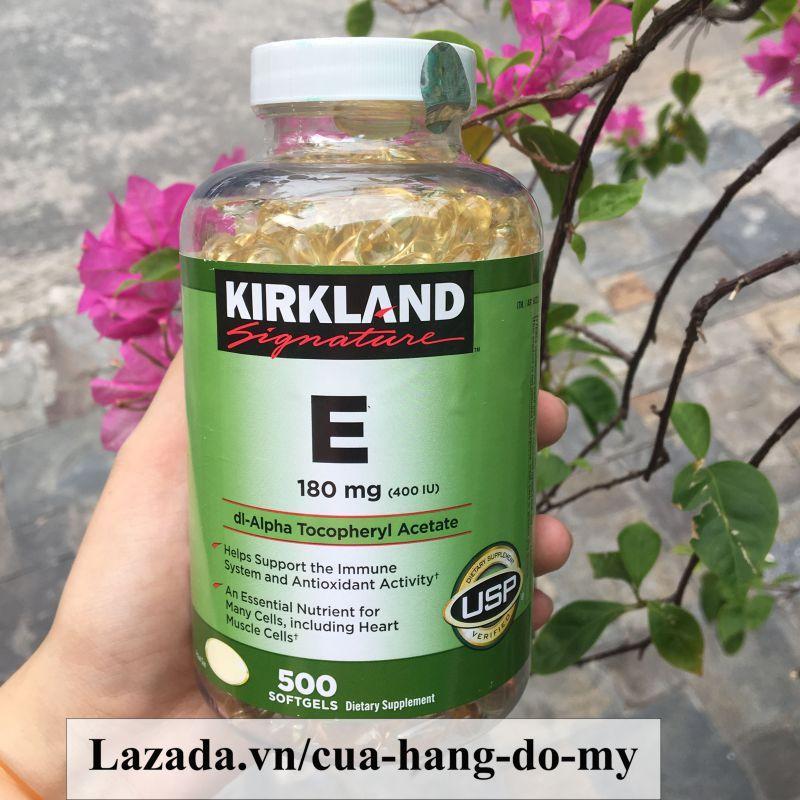 Vitamin E Kirkland 400 IU Mẫu Mới Có Hút Ẩm của Mỹ- 500 Viên [DATE MỚI] – Vitamin E của Mỹ giúp sáng da, mịn màng.