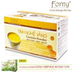 Tinh nghệ vàng Forny 150g – Hộp giấy 30 gói *5g (dành cho người đau dạ dày, làm đẹp, bồi bổ sức khỏe, phụ nữ sau sinh) (tinh bột nghệ) (Tinh bột nghệ nguyên chất)