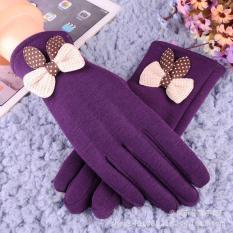Bộ găng tay nỉ cảm ứng nữ chất đẹp
