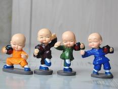 Bộ tượng 4 chú tiểu múa luyện võ túy quyền