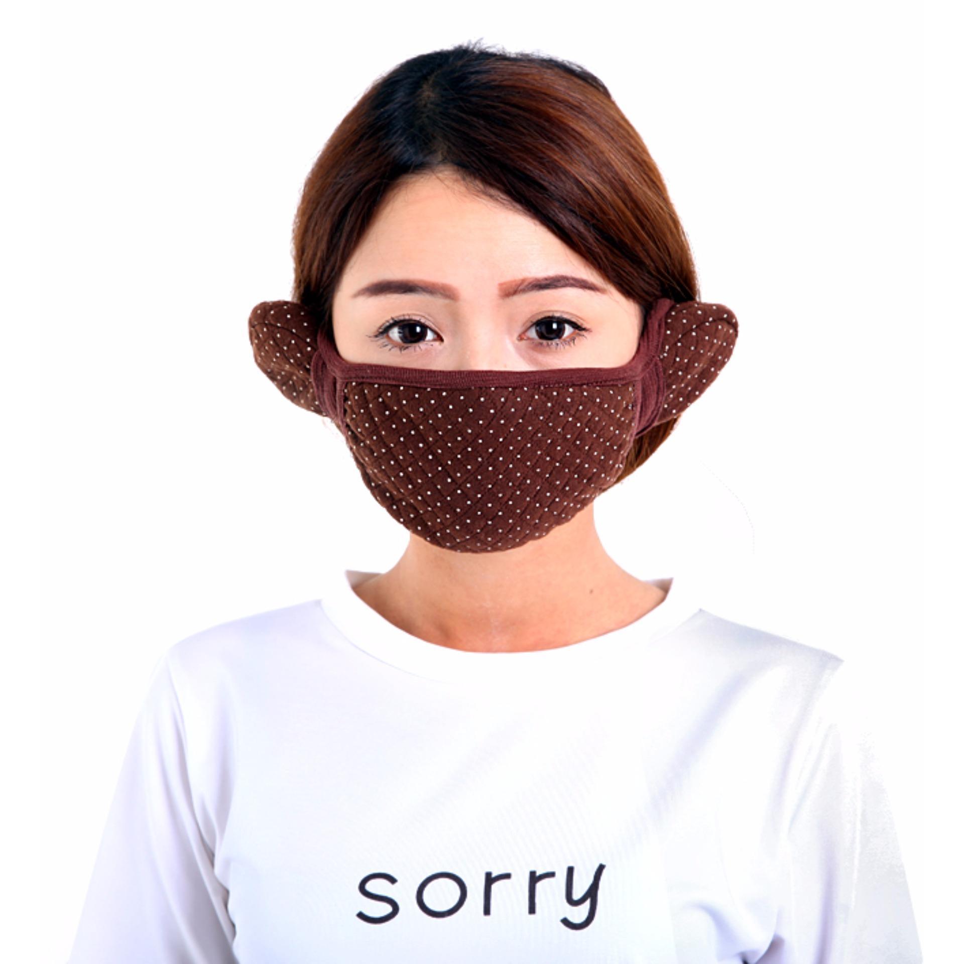 Khẩu Trang Bịt Tai Giữ Ấm cho bạn gái