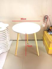 BSF – Bàn sofa tròn trắng 60×72, bàn cà phê, coffee, bàn trà