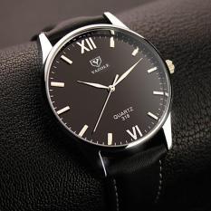 Đồng hồ nam thời trang nam dây da cao cấp Yazole DA04
