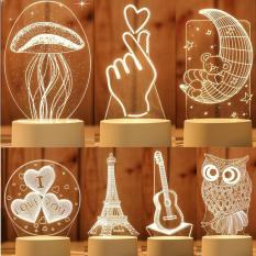 Đèn Ngủ Led 3D (Nhiều Mẫu)