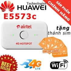 PHÁT WIFI BẰNG SIM 3G/4G HUAWEI E5573C – TẶNG THÁNH SIM 4G