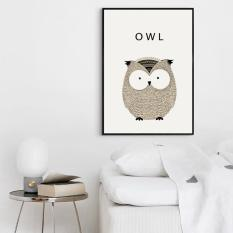 Bộ khung tranh canvas CUTE Owl