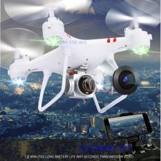 [Gía sốc] Máy bay Flycam KY101 Cao cấp, kết nối Wifi với điện thoại Có tay cầm điều khiển từ xa (Trắng)