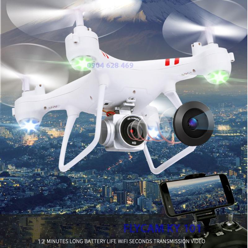 [Gía sốc] Máy bay Flycam KY101 Cao cấp, kết nối Wifi với điện thoại Có tay cầm điều khiển từ...