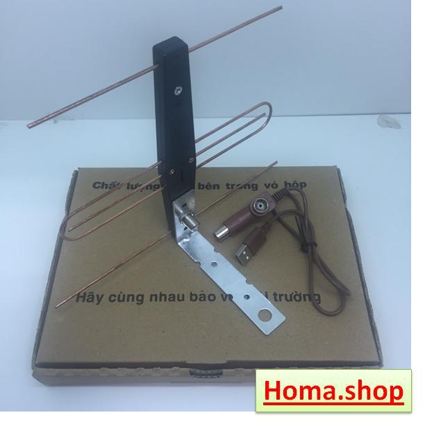 Anten khuếch đại DVB-T2 kèm dây cấp nguồn Anten 5V