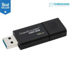USB 16GB Kingston USB 3.0 Data Traveler DT100G3 (Black) – Hãng Phân Phối Chính Thức