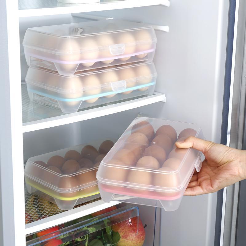 Khay đựng trứng trong tủ lạnh 15 quả tiện dụng (Màu ngẫu nhiên)