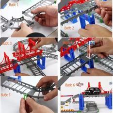 Bộ đồ chơi đường đua ô tô tàu lượn 56 chi tiết