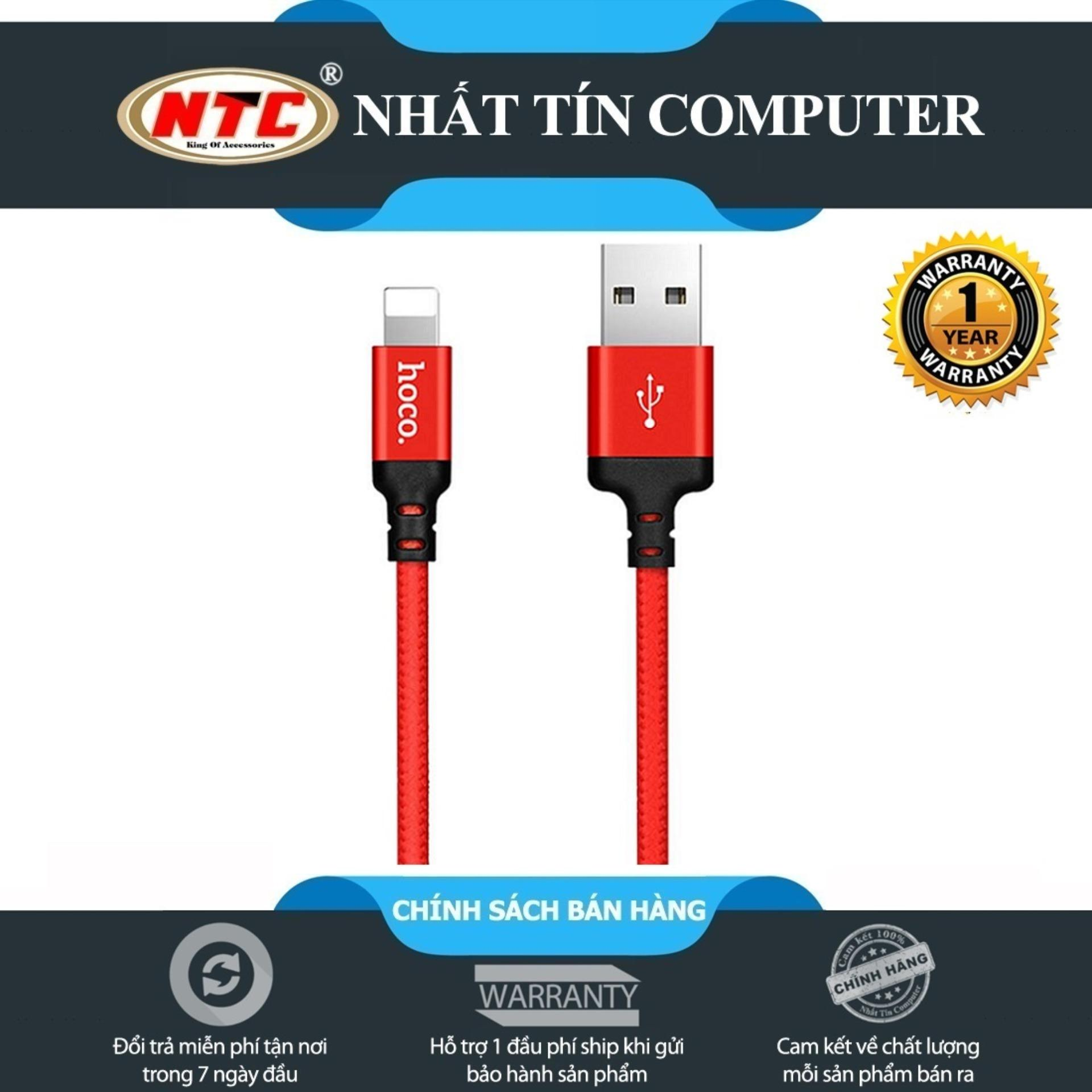 Bảng Giá Cáp sạc dây dù Hoco X14 dài 2M – cổng Lightning – Hãng phân phối chính thức Tại Nhất Tín Computer (Tp.HCM)