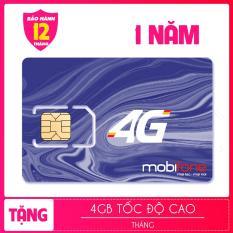 SIM 4G MOBI TRỌN GÓI 1 NĂM KHÔNG NẠP TIỀN ( 4GB X 12 THÁNG)
