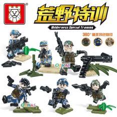 Đồ Chơi lắp ghép Lego Minfigures Set 6 nhân vật Army quân đội TBS 29 – 34