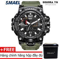 Đồng hồ nam quân đội Mỹ SMAEL DO1 siêu chống nước chống sốc dây cao su bền bỉ
