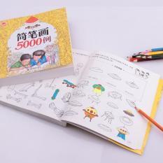 Sách tô màu loại Dày 360 trang – 5000 hình vẽ Giấy chuyên dụng / Hàng