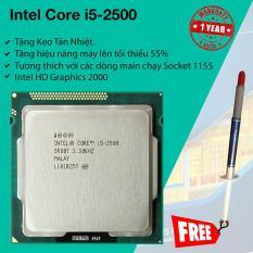 Bộ Vi Xử Lý Intel Sandy Bridge Core i5 2500 3.3Ghz Turbo 3.7Ghz, 4 lõi 4 luồng, 6Mb Cache, Bus 5 GT/s DMI.