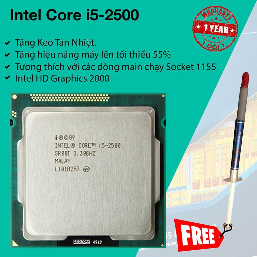 Bộ Vi Xử Lý Intel Sandy Bridge Core i5 2500 3.3Ghz Turbo 3.7Ghz, 4 lõi 4 luồng, 6Mb Cache, Bus...