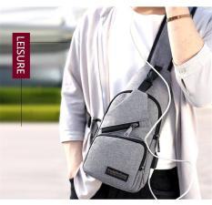 (Có thể chọn màu) Túi đeo chéo nam cao cấp tích hợp cổng sạc USB ngoài MMB012