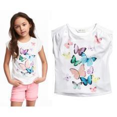 Áo thun bé gái hình bướm 3D