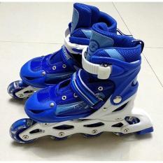 Giày patin cho bé có đèn Flash + Bộ bảo vệ tay chân trượt partin + Túi đựng giày sang trọng
