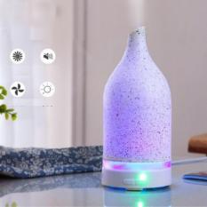 Máy phun sương khuếch tán tinh dầu gốm thấu quang, làm mát và lọc không khí + vỏ bưởi 10ml Ngọc Tuyết