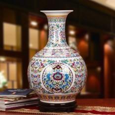 Bình hoa gốm sứ màu trắng, họa tiết tinh xảo trang trí phòng khách, văn phòng FC214-1