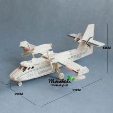Đồ chơi lắp ráp gỗ 3D Mô hình Máy bay dân dụng