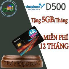Sim 4G Vina D500 Miễn Phí 5,5G/Tháng Trọn Gói 1 Năm