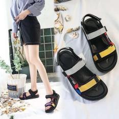 sandal học sinh dây vàng và xám S95