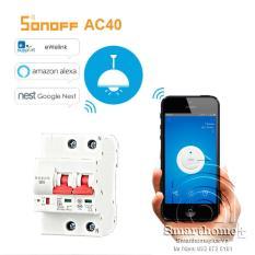 Aptomat Cầu Dao Tổng Điều Khiển Từ Xa Wifi Sonoff SHP-AC