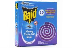 Combo 10 hộp Nhang muỗi Raid hương Lavender (10 khoanh)