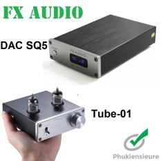 Combo nghe nhạc siêu hay Preampli Tube-01 và DAC SQ5 thương hiệu FX-Audio