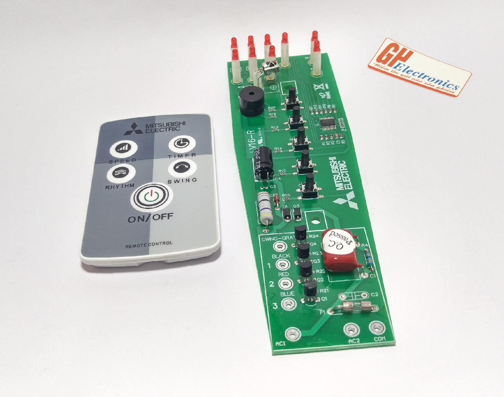 Kết quả hình ảnh cho Combo bộ điều khiển quạt từ xa và mạch Quạt Cây Mitsubishi