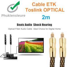 Cáp quang âm thanh mạ vàng 24k Toslink Optical 2m (GOLD)