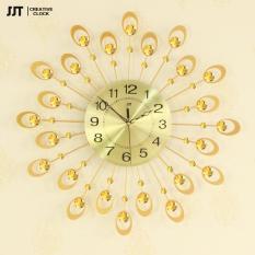 Đồng hồ trang trí treo tường W0754Y Decoshop68 giá tốt (họa tiết lông công)