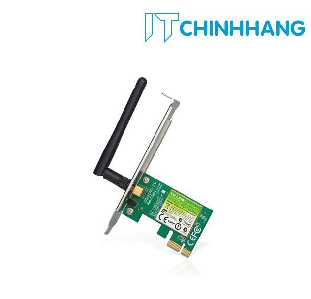 Card Wifi Tp-Link TL-WN781ND chuẩn PCI Express tốc độ 150Mbps - Hãng Phân Phối Chính Thức