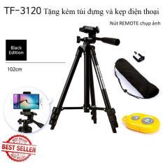 Gậy 3 chân Tripod TF 3120 + nút chụp ảnh + giá đỡ điện thoại
