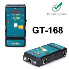 Hộp test cáp mạng, kiểm tra dây mạng đa năng CT-168 (RJ45-RJ11-USB)