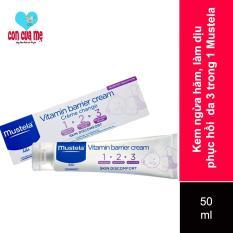 [Sản xuất tại Pháp] Kem hăm 3 tác động Mustela 50ml Vitamin barrier cream
