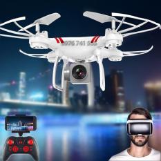 Máy bay điều khiển từ xa Flycam KY101 Camera Full HD, Kết nối Wifi (Tặng tay cầm điều khiển) Trắng
