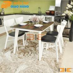 Bộ bàn ăn Osan màu trắng 4 ghế