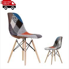 Kachi – Ghế Eames chân gỗ bọc vải nì FP-2351B1 (E10)